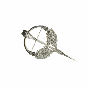 Traditional Tara Silver Sculptured Silver Brooch