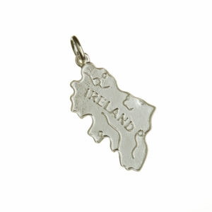 Map of Ireland Sterling Silver Charm