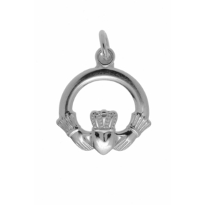 Charm - Classic Irish Traditional Silver Claddagh Design