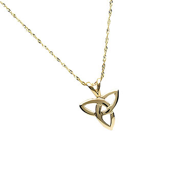 10K Gold Trinity Knot Design Pendant