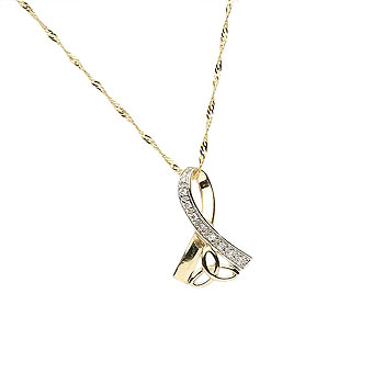 10K Gold CZ Trinity Knot Design Pendant Irish Crafts