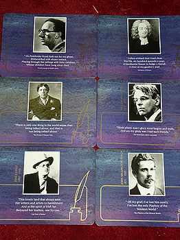 Irish Writers James Joyce Etc Set 6 Quality Placemats