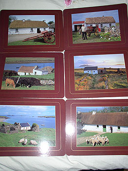 Irish Cottages Set Of 6 Quality Placemats