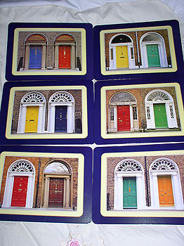 Georgian Doors Of Dublin Set Of 6 Quality Placemats