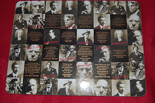 Irish Famous Writers Placemats
