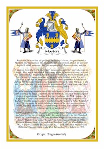 Vellum A4 Parchment - BAYNES to BENTLEY Coat of Arms