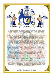 Vellum A4 Parchment - BONNER to BRABAZON Coat of Arms