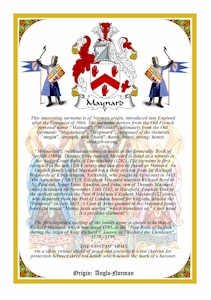 Vellum A4 Parchment - CLINTON to COLLINS Coat of Arms