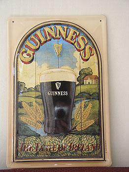 Guinness Metal Advertising Sign