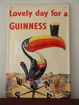 Guinness Metal Advertising Sign Toucan Guinness On Beak