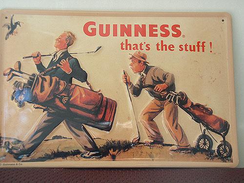 Guinness Metal Advertising Sign Golf