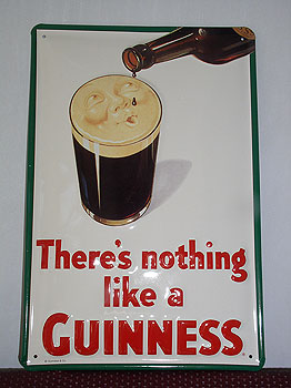 Guinness Metal Advertising