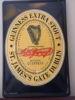 Guinness Extra Stout Metal Advertising Sign