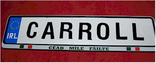 Customized Irish Driving Plates