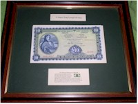 Framed Irish Bank Notes