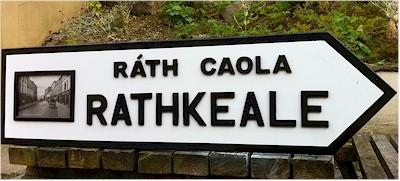 Full Size Irish Town Road Signs