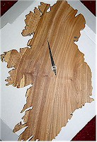 Irish Carved Wood Clocks by Paul McEvoy