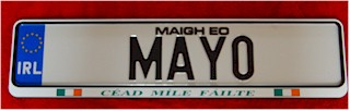 Irish County Driving Plates