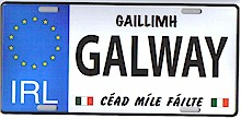 Irish County License Plates