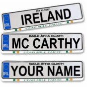 Irish Customized License Plate