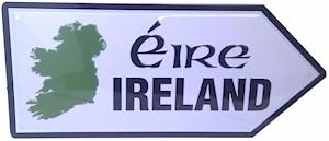 Miniature Irish Metal Road Signs