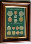Framed old Irish Coin Sets